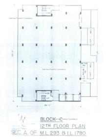 海景大厦C座 -标准平面图