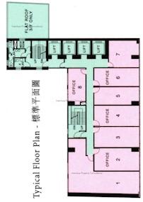金钟汇中心 -标准平面图