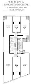 宝恒商业中心 -标准平面图