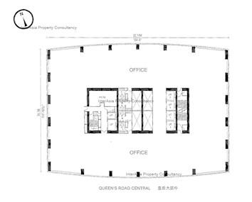 中远大厦 -标准平面图