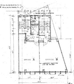 詹氏商业大厦 -标准平面图