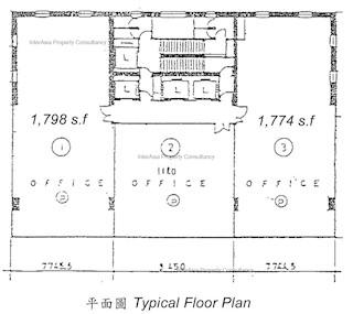 越秀大厦 -标准平面图