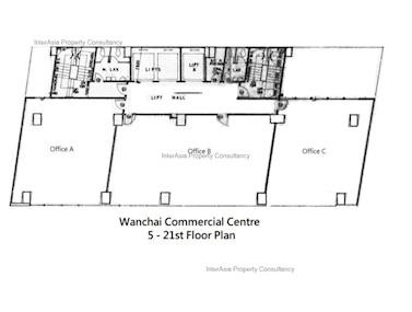 湾仔商业中心 -标准平面图