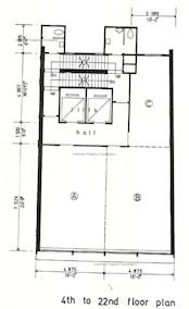 中兴商业大厦 -标准平面图
