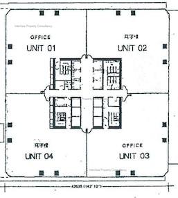海富中心 1期-标准平面图