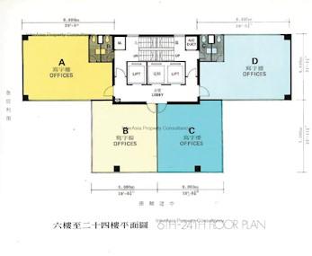 易通商业大厦 -标准平面图