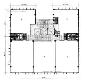 安年大厦 -标准平面图