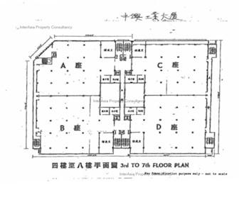 中兴工业大厦 -标准平面图