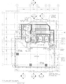南源商业大厦 -标准平面图