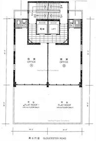 安邦商业大厦 -标准平面图