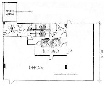 东协商业大厦 -标准平面图