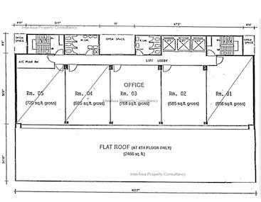 威信大厦 -标准平面图