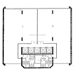 富通大厦 -标准平面图