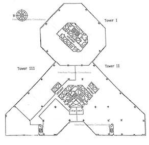 企业广场一期 三座-标准平面图