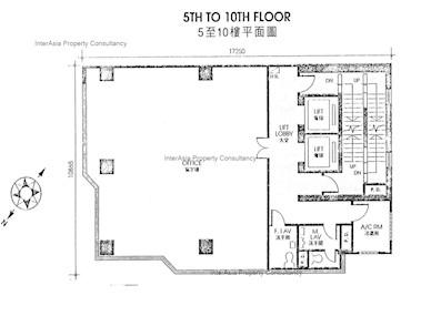 番发大厦 -标准平面图