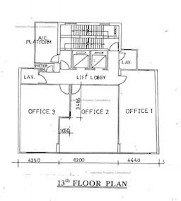 华兴商业大厦 -标准平面图