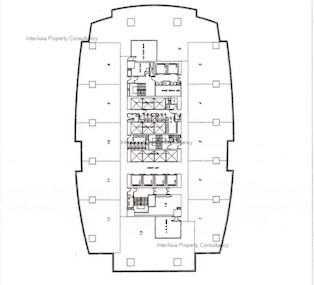 港威大厦 永明金融大楼-标准平面图