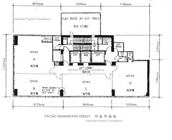 广旅集团大厦 -标准平面图