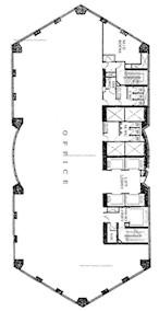 中汇大厦 -标准平面图