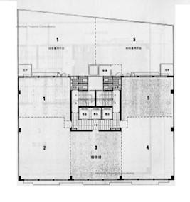 海景商业大厦 -标准平面图