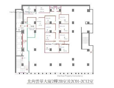 云华大厦 -标准平面图