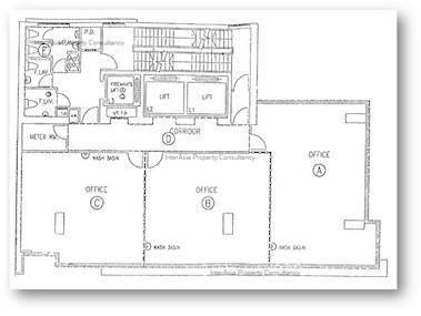 恒生铜锣湾大厦 -标准平面图