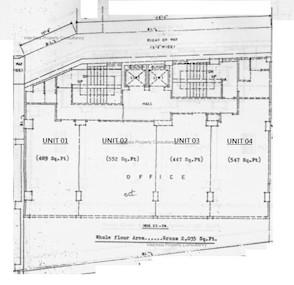 四宝大厦 -标准平面图