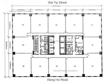 德福大厦 -标准平面图