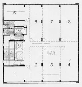 喜讯大厦 -标准平面图