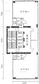 泰达大厦 -标准平面图