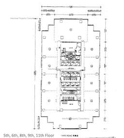 港运大厦 -标准平面图