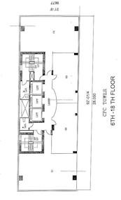 中福商业大厦 -标准平面图