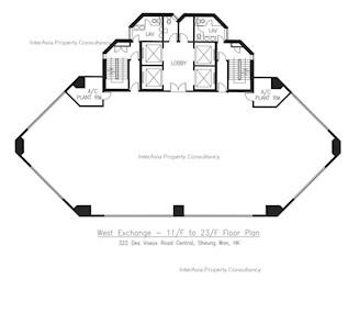 西区电讯大厦 -标准平面图