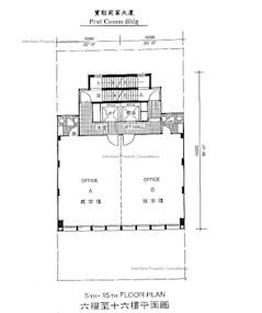 宝勒商业大厦 -标准平面图