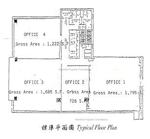 东惠商业大厦 -标准平面图