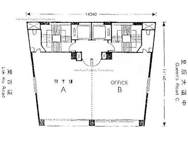 北海商业大厦 -标准平面图