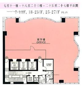 粤财大厦 -标准平面图