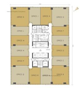 京瑞广场2期 -标准平面图