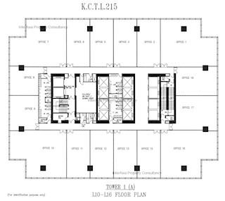 九龙贸易中心 A 座 -标准平面图