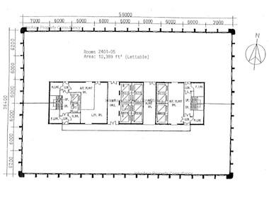 华润大厦 -标准平面图