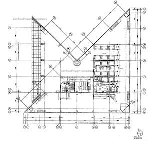 中银大厦 -标准平面图
