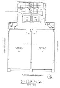 顺安商业大厦 -标准平面图