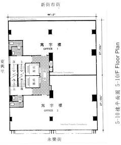 永富商业大厦 -标准平面图