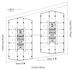 新港中心1座 -标准平面图