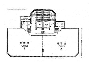 浙江兴业大厦 -标准平面图