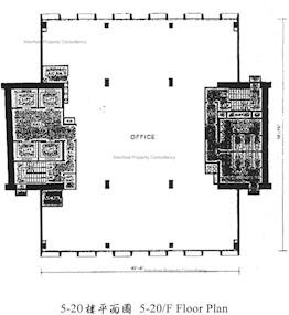 中怡商业大厦 -标准平面图