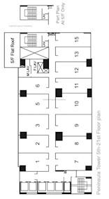 半岛大厦 -标准平面图