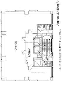 博汇大厦 -标准平面图