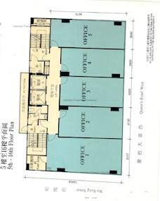 华富商业大厦 -标准平面图