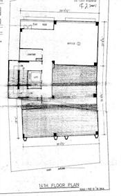 赫德大厦 -标准平面图